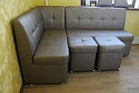 Комплект мягкой кухонной мебели (Бронзовый цвет), фото 1
