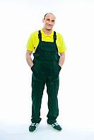 Напівкомбінезон робочий Саржа зелений