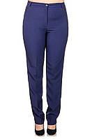 Элегантные женские  брюки  Офис синий (50-60)