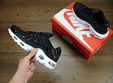 Кроссовки мужские Найк Nike Air Max TN Black/White. ТОП Реплика ААА класса., фото 2