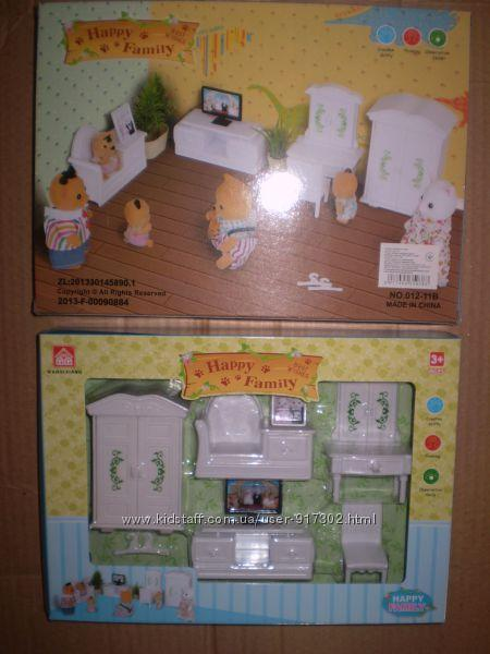 Кукольная мебель Гостиная Happy family, для  ЛОЛ