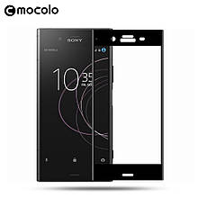 Защитное стекло Mocolo 2.5D 9H на весь экран для Sony Xperia XZ1 черный