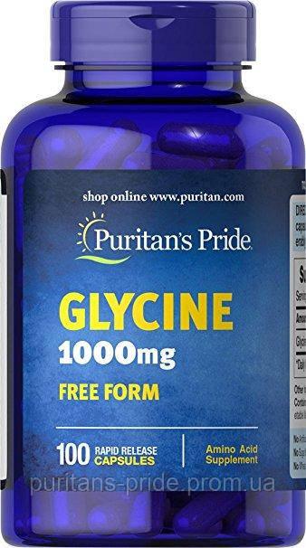 Глицин Puritan's Pride Glycine 1000 mg 100 Capsules
