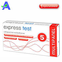 Экспресс-тест на наркотики Express Test 1 мультипанель в упаковке
