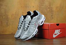 Кроссовки мужские Найк Nike Air Max TN Grey/White/Red . ТОП Реплика ААА класса., фото 3