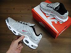 Кроссовки мужские Найк Nike Air Max TN Grey/White/Red . ТОП Реплика ААА класса., фото 2