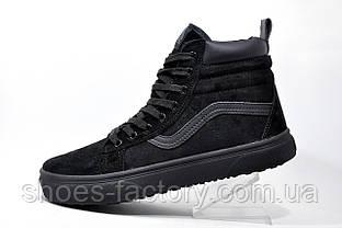Зимние кроссовки в стиле Vans Old Skool Winter, на меху (Black)