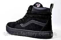 Зимние кроссовки в стиле Vans Old Skool Winter, на меху (Black), фото 3