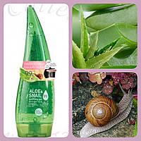 Гель алоэ с муцином улитки 99% для увлажнения лица и тела Aloe & Snail Soothing Gel 99% Baby Bright