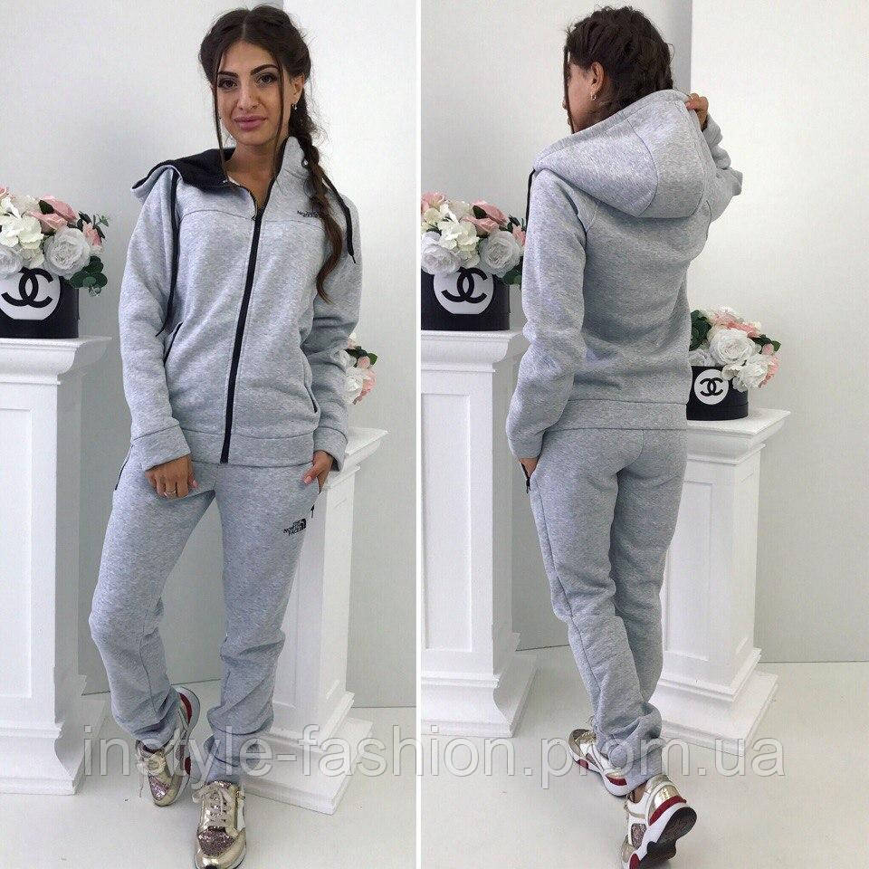 9da64b3d461 Спортивный теплый костюм ткань турецкая трех нитка с начесом цвет серый