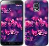 """Чехол на Samsung Galaxy S5 g900h Пурпурные цветы """"2719c-24-481"""""""