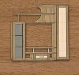 Гостиная Лира 3 Стекло (Континент) 1800х430х1800мм, фото 4