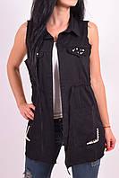 Безрукавка женская котоновая (цв.черный) Malu Girls (Cotton 95%,Elastane 5%) Размеры в наличии : 44,46,48,50,5