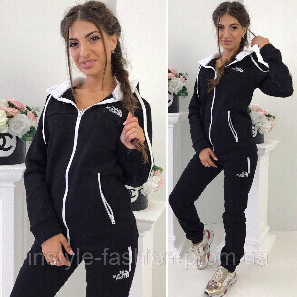 3b6ddea8 Спортивный теплый костюм ткань турецкая трех нитка с начесом цвет черный