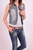Жилетка джинсовая женская стрейчевая (пинцет в подарок) Matstyle (Cotton 98%,Elastane 2%) Размеры в наличии :