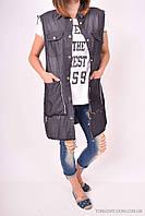 Жилетка джинсовая женская удлинённая (цв.чёрный) Kilroy Jeans (Cotton 98%,Elastane 2%) Размер в наличии : 48 а