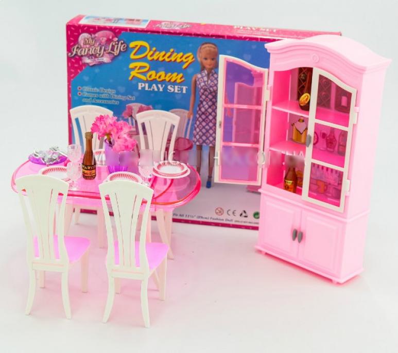 """Меблі для ляльок Gloria 24011 """"Їдальня"""""""