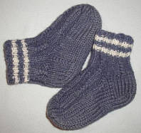 Носки детские вязаные шерстяные ручной роботы