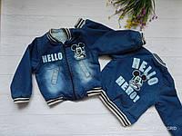 Куртка теплая джинсовая на мальчика Hello Mikki