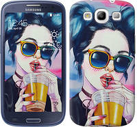 """Чехол на Samsung Galaxy S3 Duos I9300i Арт-девушка в очках """"3994c-50-481"""""""