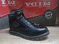 Мужские ботинки зимние МИДА из натуральной кожи