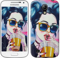 "Чехол на Samsung Galaxy S4 mini Арт-девушка в очках ""3994c-32-481"""