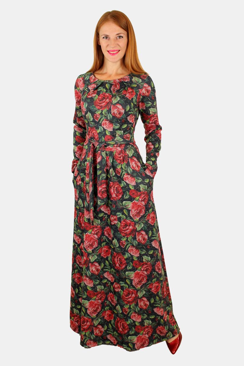 047e474bc08 Теплое длинное платье с принтом 44-50 р ( разные цвета )  продажа ...
