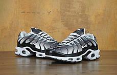 Кроссовки мужские Найк Nike Air Max TN Black/White/Grey . ТОП Реплика ААА класса., фото 3