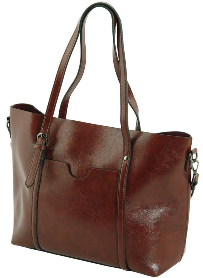 Женская сумка из экокожи TRAUM 7240-31 коричневый