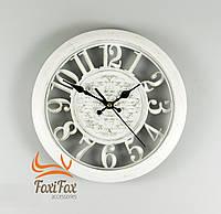 Настенные часы белые прованс 28 см