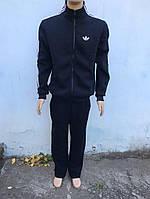 Спортивный костюм трикотажный на флисе Adidas с лампасами темно-синий ОСЕНЬ-ЗИМА