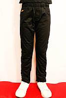 Дитячі зимові чорні штани на флісі від резинку на 4-12 років. Виробник Польша - Smile