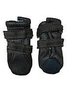 Мягкие ботинки для собак -Коричневый-№S