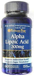 Альфа-липоевая кислота, Puritan's Pride Alpha Lipoic Acid 300 mg 60 Capsules , фото 2