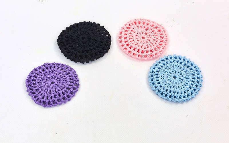 Сеточка для волос на пучек CO-9503 (хлопок, безразмерный, цвета в ассортименте)Z