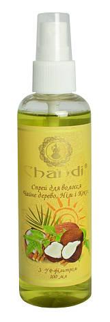 """Спрей для волос """"Чайное дерево, Ним и Кокос"""" с УФ-фильтром Chandi, 100мл, фото 2"""
