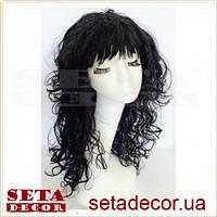 Парик чёрный с длинными кудрявыми искусственными волосами