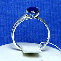 Серебряное кольцо с синим фианитом 1114сап, фото 1