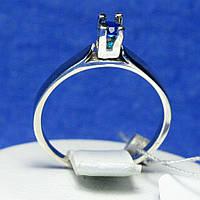 Кольцо с синим куб. цирконом из серебра 1223с