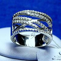 Серебряное кольцо широкое с дорожками кс 1240
