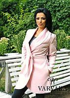 Женское осеннее кашемировое пальто с поясом