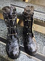 Ботинки H=rmes болты c логотипом. Натуральная кожа.  Демисезон.Внутри итальянская байка.Р-р 36-40.В трёх цвета