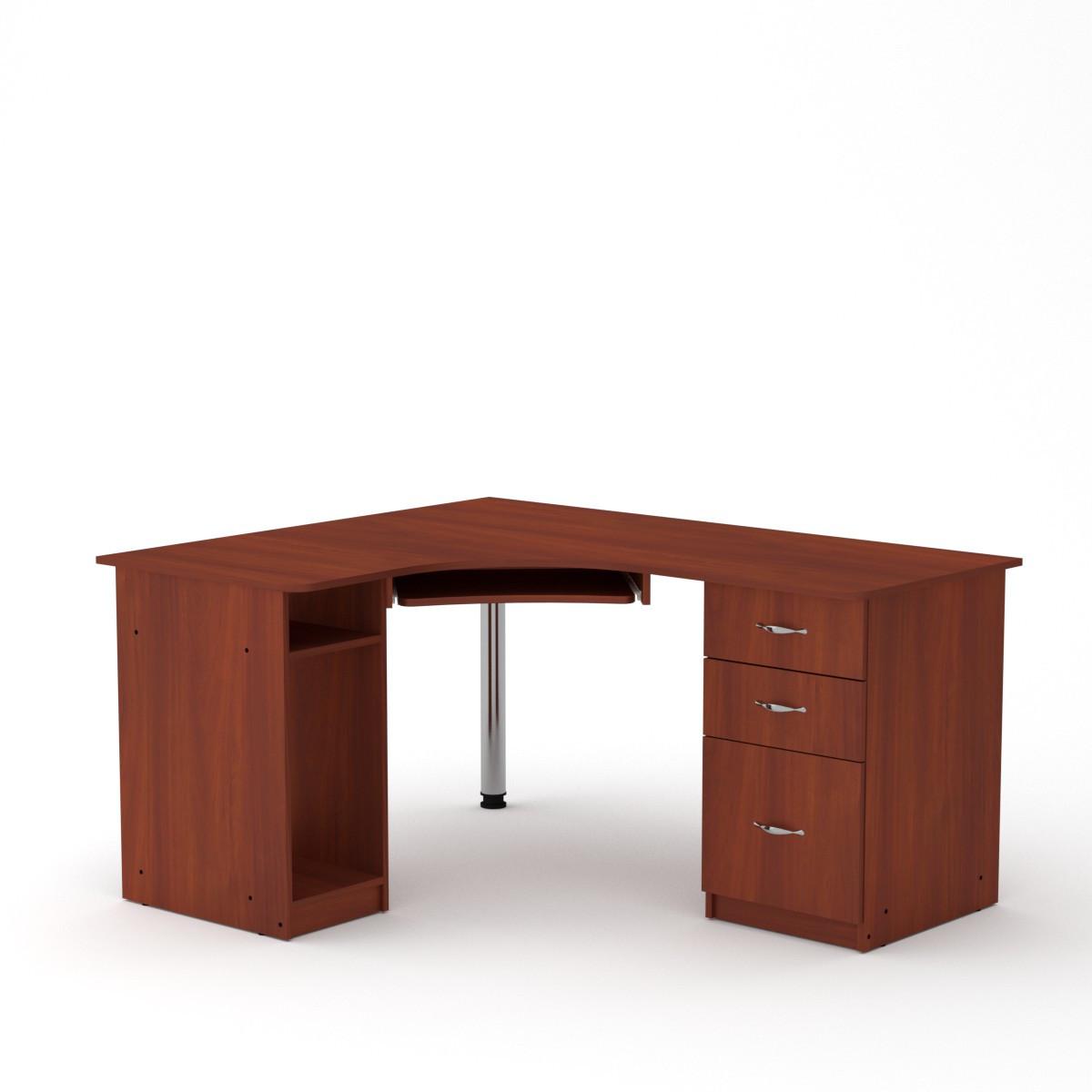 Стол компьютерный СУ-9 яблоня Компанит (150х125х74 см)
