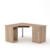 Стол компьютерный СУ-9 дуб сонома Компанит (150х125х74 см), фото 1