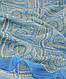 Стильный широкий женский шарф, хлопок, 160х80 см, Trаum 2495-92, цвет голубой., фото 2