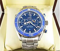 Часы OMEGA Seamaster 44mm Chronograph Silver/Blue. Реплика: Elite.