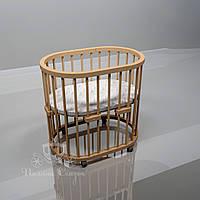 Овальная кроватка Luxbed Ольха в лаке