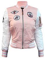 Женский бомбер Miss Top Gun Color Block Ma-1 (розовый)
