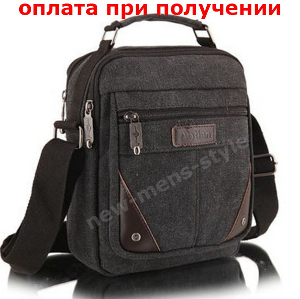 Чоловіча стильна тканинна полотно сумка барсетка через плече Aotian