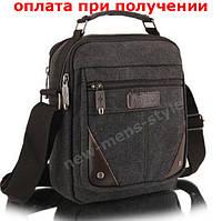 Мужская стильная тканевая холст сумка барсетка через плечо Aotian